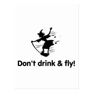 No beba y no vuele a la bruja del vuelo postal
