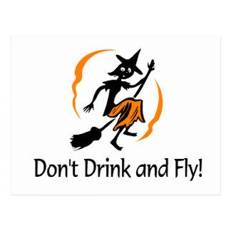 No beba y no vuele a la bruja tarjetas postales