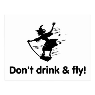 No beba y no vuele postal