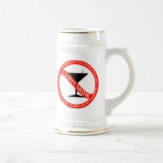 No bebo jarra de cerveza
