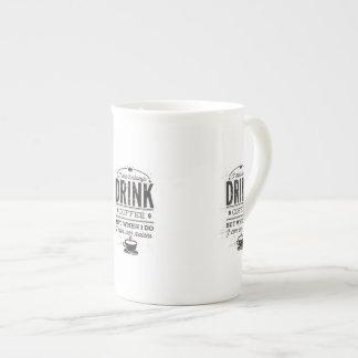 No bebo siempre cita divertida del café… taza de porcelana