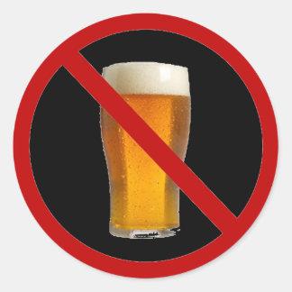 """""""No Beer"""" Classic Round Sticker"""