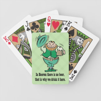 No Beer in Heaven Funny Playing Cards