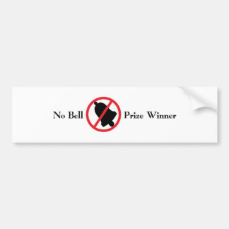 No Bell Bumper Sticker Car Bumper Sticker