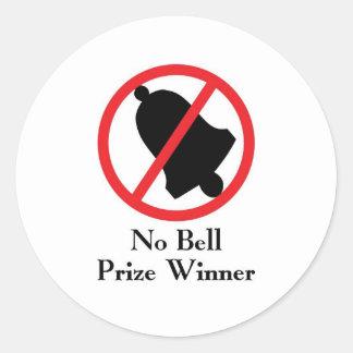 No Bell Prize Winner Classic Round Sticker