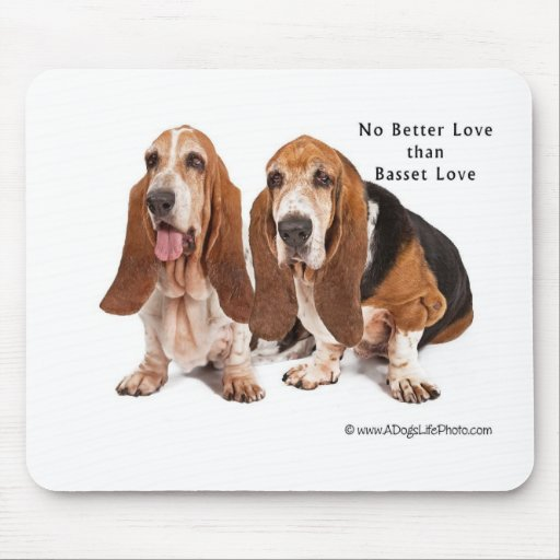 no better love than basset love mouse pad