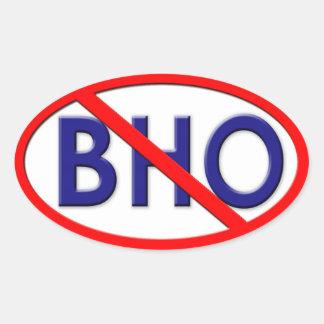 No BHO Oval Sticker