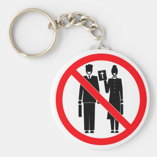 No Bible Thumpers Keychain