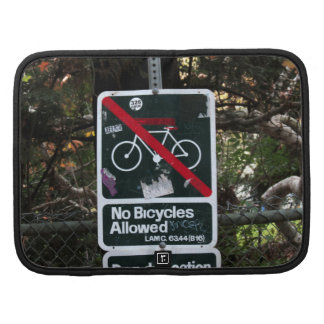 No Bicycles Allowed Sign Folio Planners