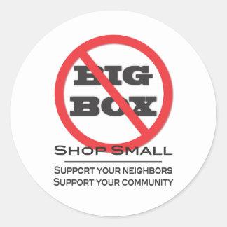 No Big Box Stores! Round Stickers