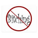 No Bitching postcard