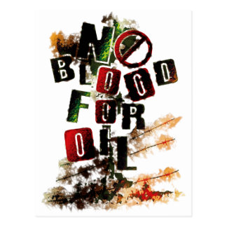 NO BLOOD FOR OIL POSTCARD