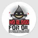 No Blood For Oil Round Stickers