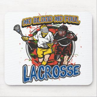 No Blood Lacrosse Mouse Pad