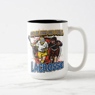 No Blood Lacrosse Two-Tone Coffee Mug