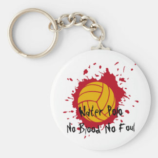 No Blood No Foul Basic Round Button Keychain