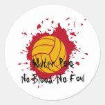 No Blood No Foul Classic Round Sticker