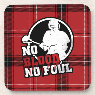 No Blood, No Foul Lacrosse Coasters