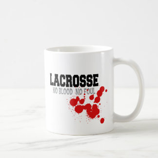 No Blood No Foul Lacrosse Coffee Mug