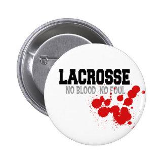 No Blood No Foul Lacrosse Gift Pinback Button