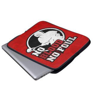 No Blood No Foul Lacrosse Laptop Sleeve