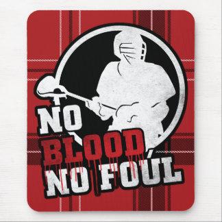 No Blood No Foul Lacrosse Mousemat Mouse Pad