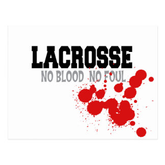 No Blood No Foul Lacrosse Post Cards Postcards