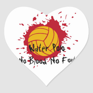 No Blood No Foul Heart Stickers