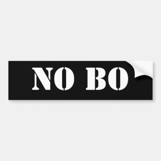NO BO BUMPER STICKER
