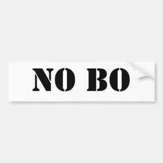 """""""NO BO"""" BUMPER STICKER CAR BUMPER STICKER"""