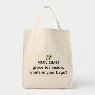 No bolso de compras de GMO Bolsa Tela Para La Compra