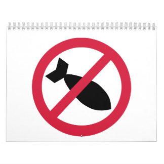 No bombs war calendar