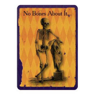 No Bones About It Halloween Party 5x7 Paper Invitation Card