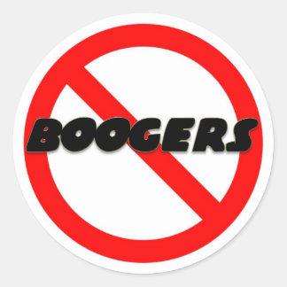 No Boogers Classic Round Sticker