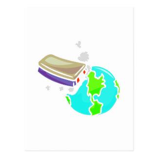 no borre hacia fuera el planeta tarjetas postales