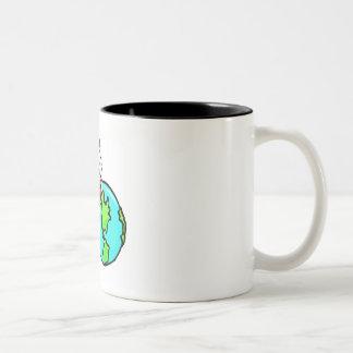 No borre nuestro planeta taza de café