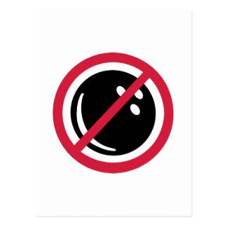 No bowling postcard