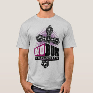 NO BOX CHRISTIAN ATHETIC GRAY T-Shirt