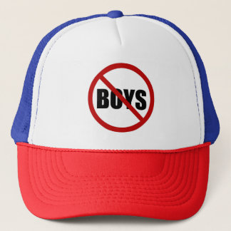 No Boy Allowed Sign Typography Hat