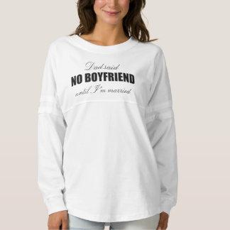 No boyfriend until married long sleeve jersey