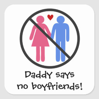 NO Boyfriends Square Sticker