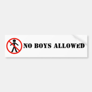 No Boys Allowed BumperSticker Car Bumper Sticker