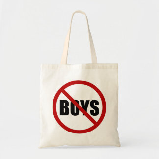 No Boys Allowed Icon Canvas Tote Bag
