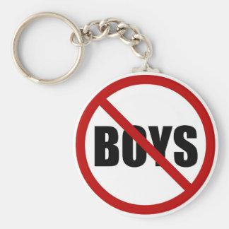 No Boys Allowed Icon Keychain