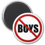 No Boys Allowed Icon Magnet