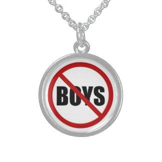 No Boys Allowed Icon Necklace