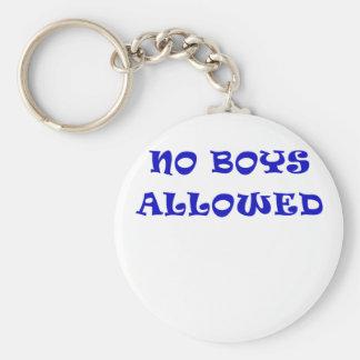 No Boys Allowed Key Chain