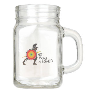No Boys Allowed! Mason Jar
