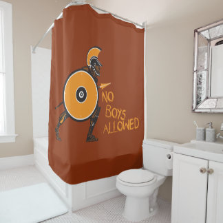 No Boys Allowed! Shower Curtain