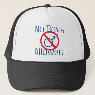 No Boys Allowed Trucker Hat
